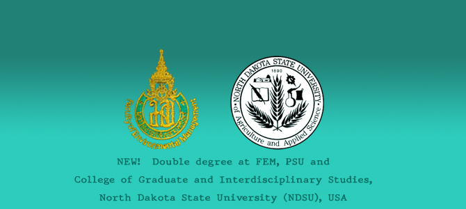 Double degree at FEM, PSU and NDSU, USA