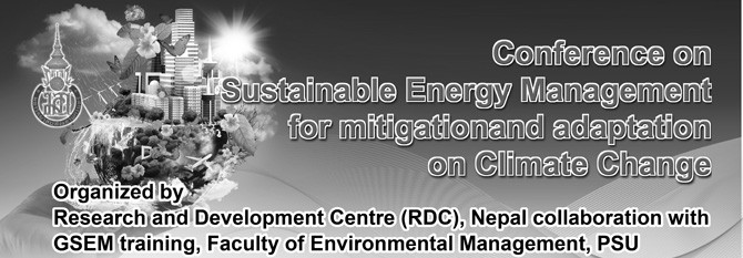 Conference on Sustainable Energy Management